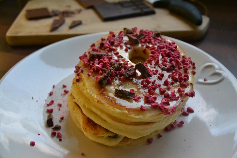 Glazed Doughnut Pancakes